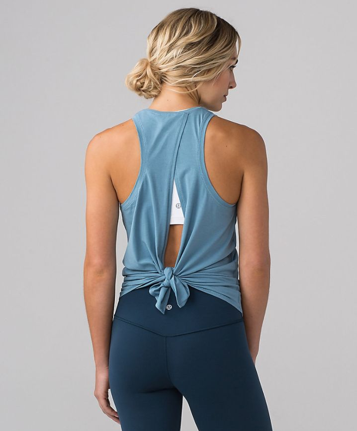 All Tied Up Tank #YogaClothes