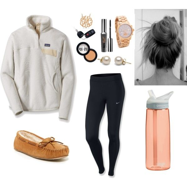 Finals Week Outfit Idea! by anne-pfaff on Polyvore featuring Patagonia, NIKE, Mi...
