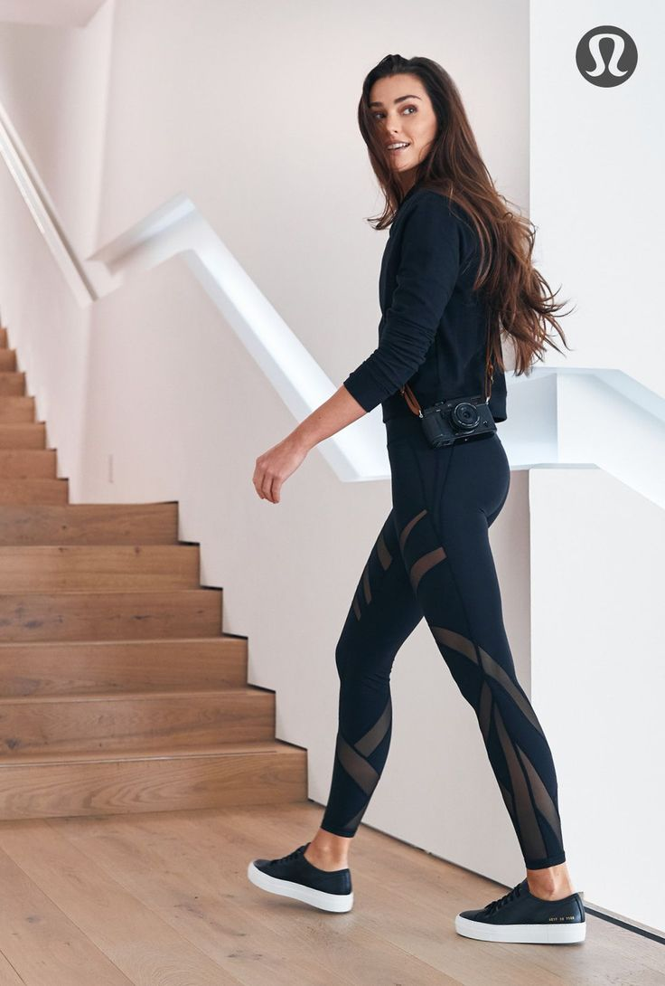 Lightweight hoodie and mesh tights for the perfect travel outfit. | lululemon
