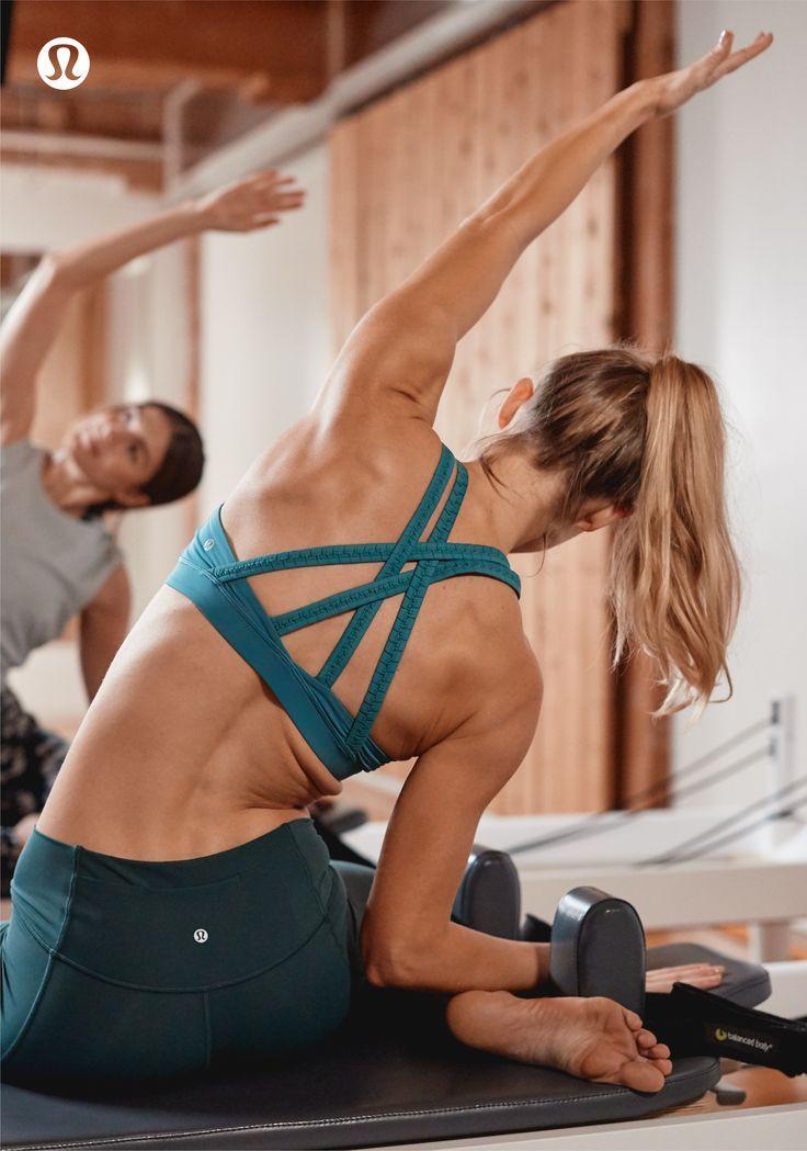 Lululemon yoga inspiration. Side stretching yoga poses