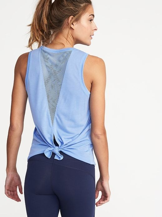 Relaxed Mesh-Back Fly-Away Tank for Women   Old Navy
