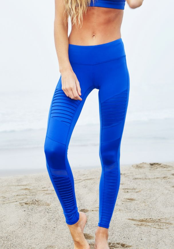 Up close of the Alo Yoga Moto Legging www.aloyoga.com/...