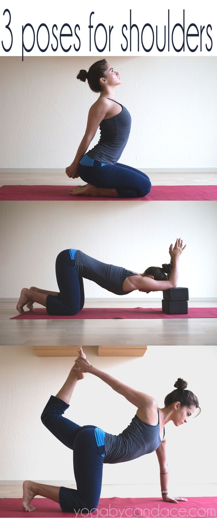 Pin it! 3 yoga poses for the shoulders and chest.  Using:  Manduka travel mat . ...
