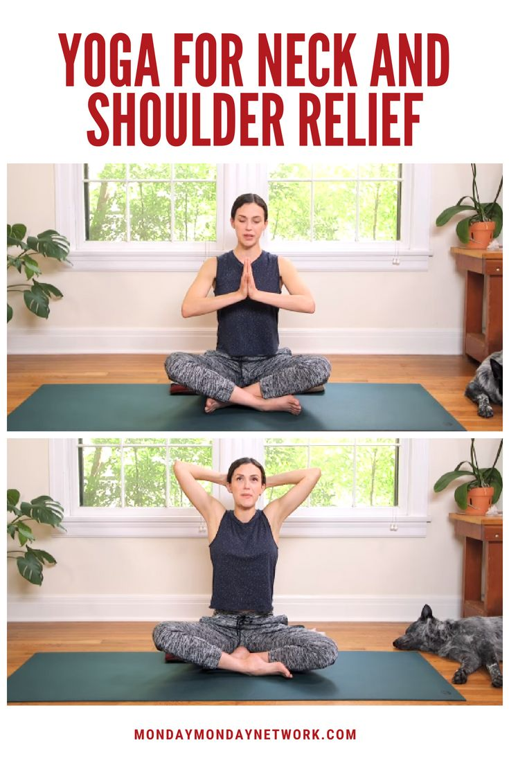 Yoga for Neck and Shoulder Relief! This under 20 min session offers a bounty of ...