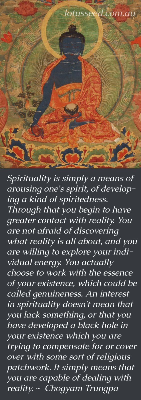 Chogyam Trungpa Buddhist Zen quotes by lotusseed.com.au