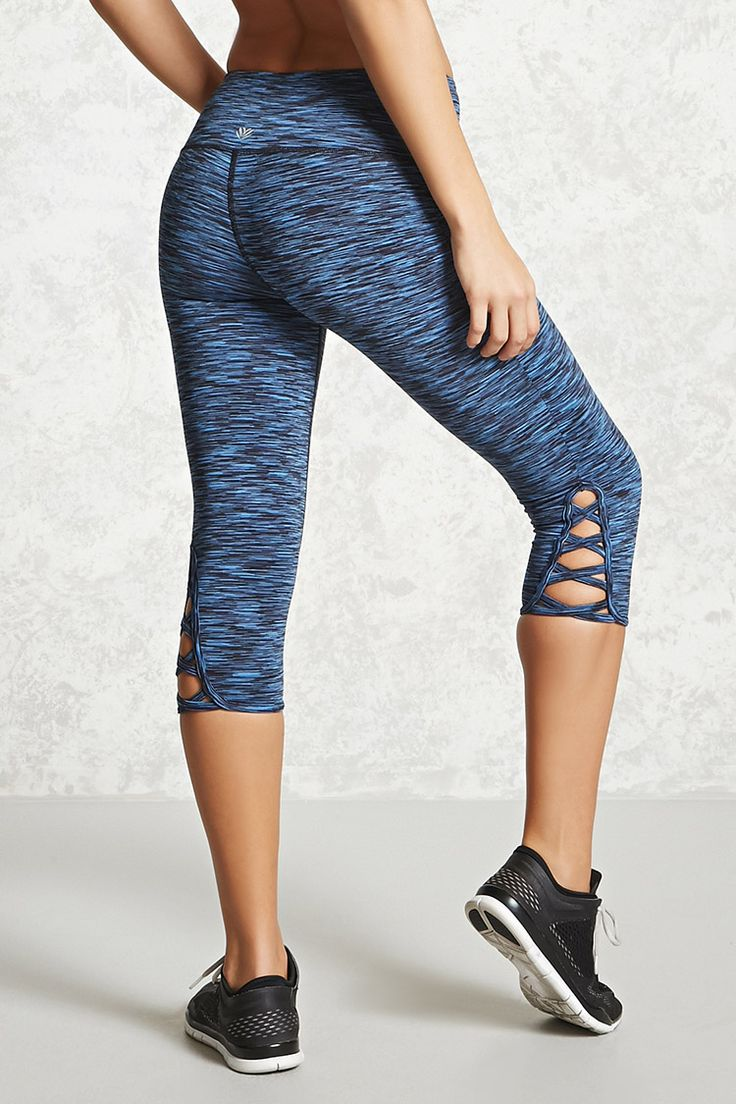 Active Cutout Capri Leggings | Forever 21 - workout stylish in gym Workout Cloth...