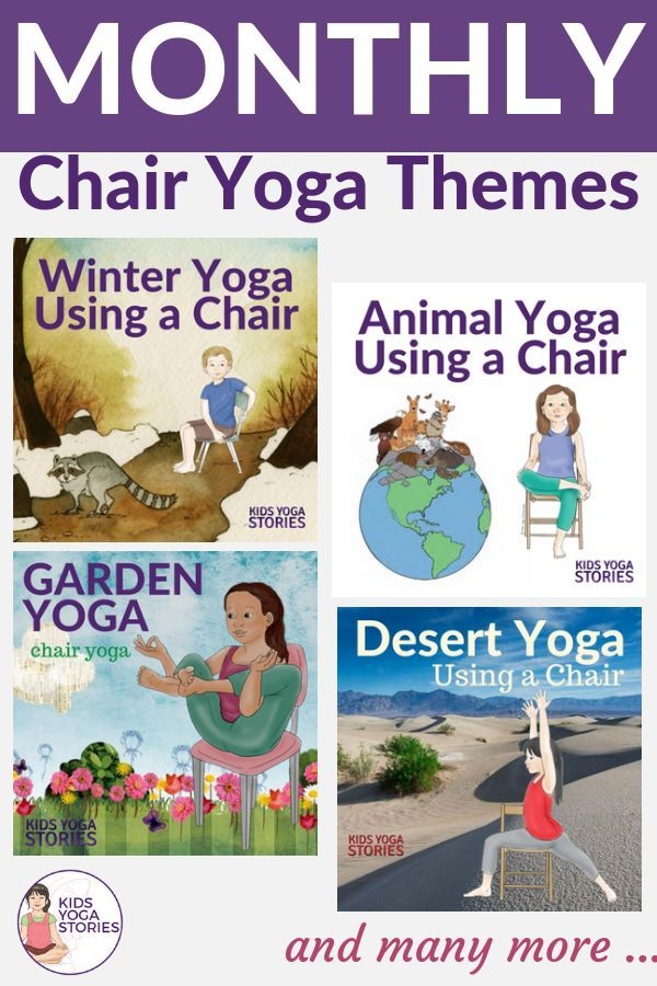Chair Yoga Ideas. Get the wiggles out with this collection of Monthly Chair Yoga...