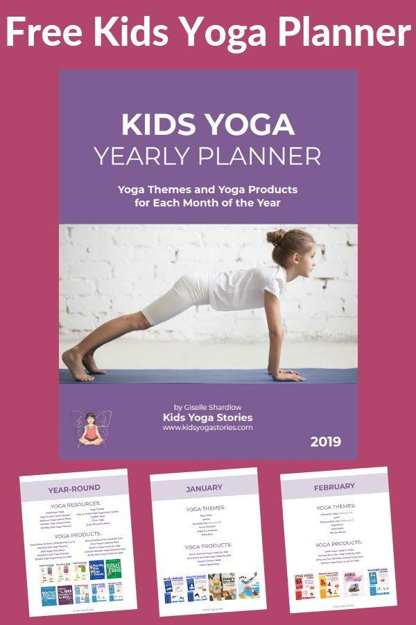 FREE printable Kids Yoga Stories Yearly Planner for 2019! For primary school tea...