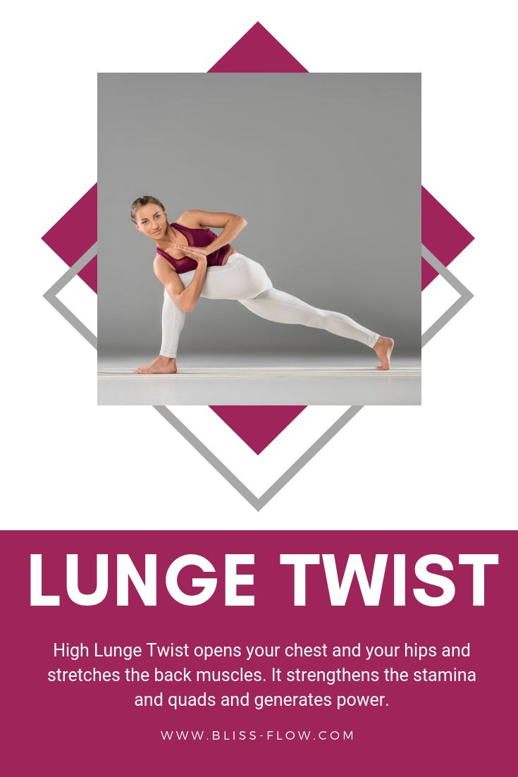 High Lunge Twist is a great way to include the touch sense into your yoga practi...