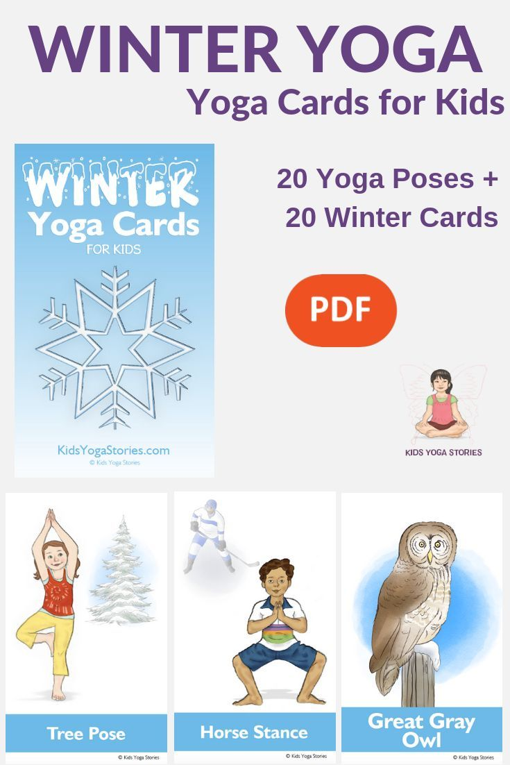 Winter Yoga for Kids  Learn about winter animals and snowy activities through si...