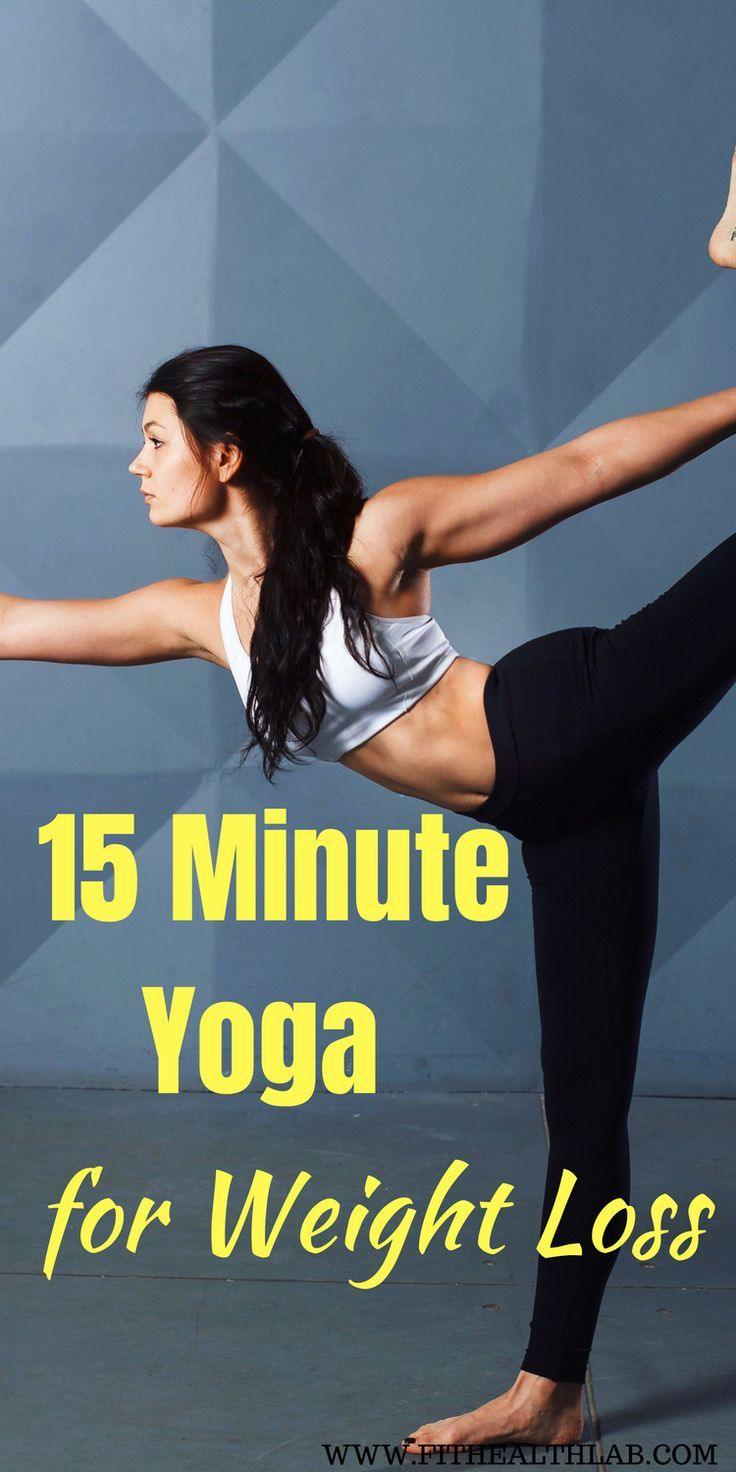 15 minute yoga poses for weight loss #yoga #weightloss #healthy #fithealthlab #h...