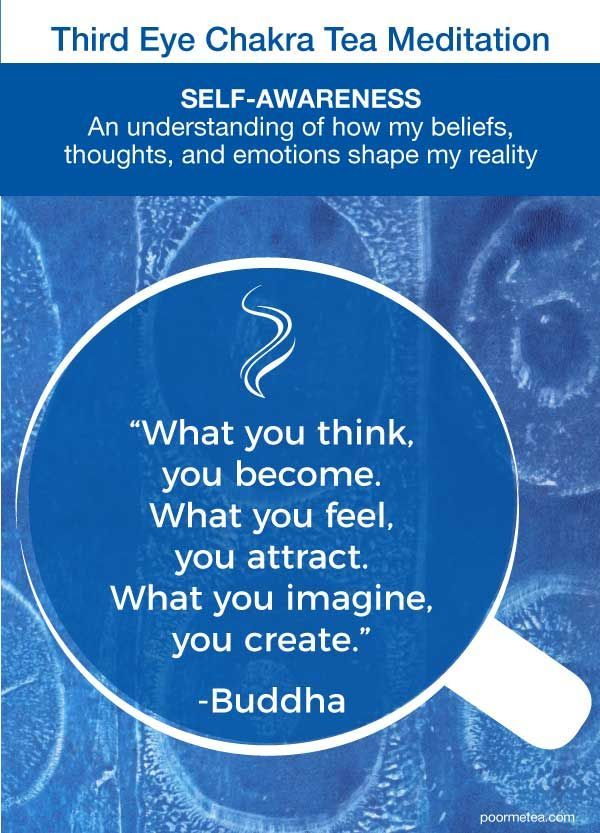 Third Eye Chakra Tea Meditation: Inspiring quote for your Third Eye Chakra. Enjo...