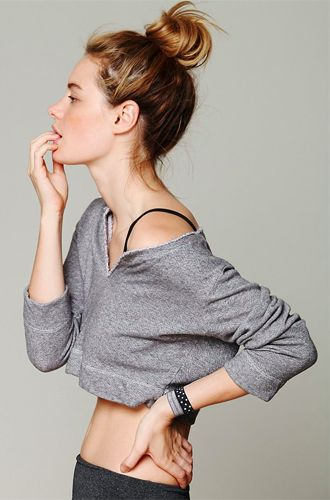 10 Stylish Activewear Picks: Solow Sport French Terry Cropped Pullover from Free...