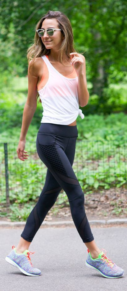 Bandier Workout Outfit by Something Navy