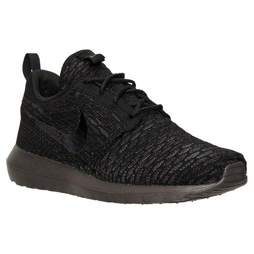 Men's Nike Roshe NM Flyknit Casual Shoes  Finish Line   Black/Midnight Fog