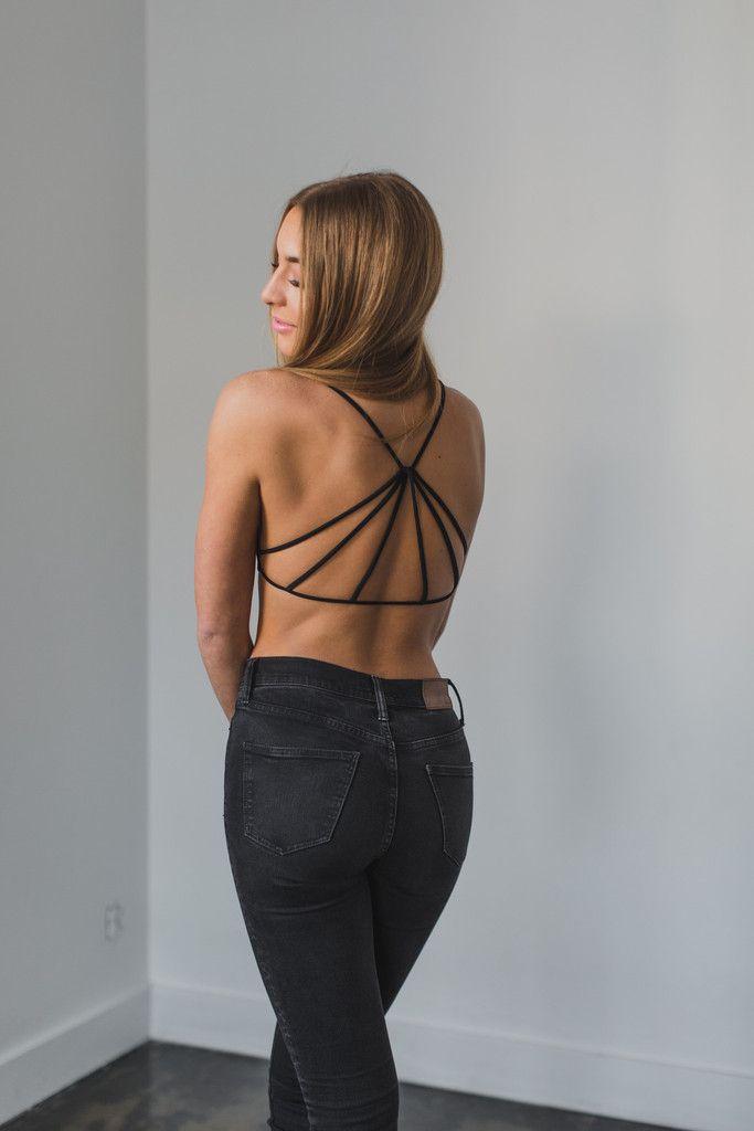 Strappy Back Bralette – Love Street