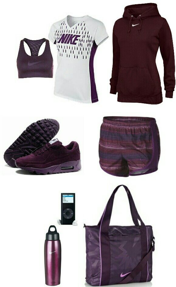Womens Purple and Burgundy nike outfit