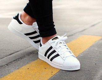 shoes adidas adidas shoes tumblr tumblr shoes black white stripes sneakers Cloth...