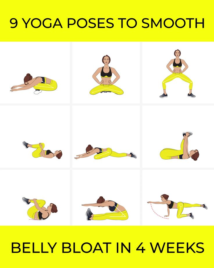 Yoga Poses to Smooth Belly Bloat in 4 Weeks