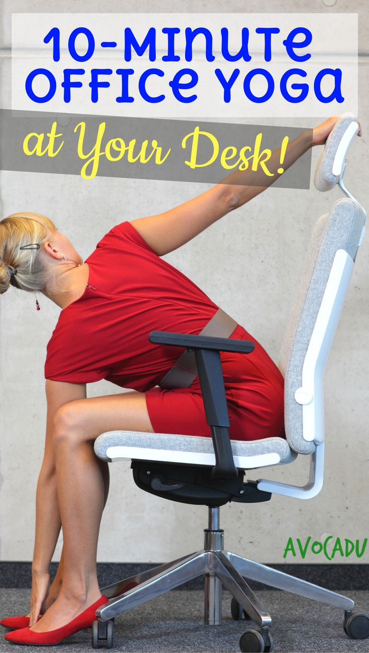 10-Minute office yoga at your desk to relieve tension | Office yoga routine to r...