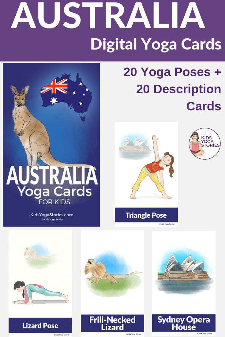 LEARN ABOUT AUSTRALIA THROUGH SIMPLE AND FUN YOGA POSES! Australia is a beautifu...