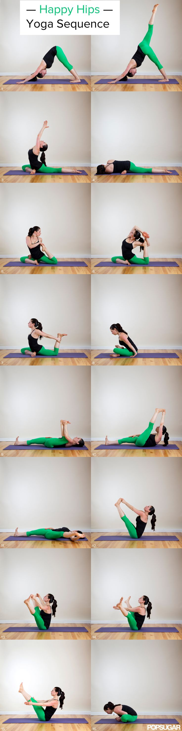 Happy Hips Yoga Sequence - Runners and the deskbound rejoice! Your tight hips wi...