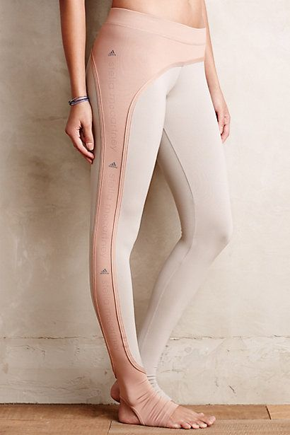 Adidas by Stella McCartney Perforated Studio Tights - anthropologie.com