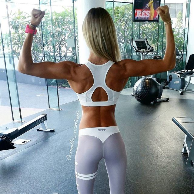 C A M i L L A A K E R B E R G @camilla_akerberg Back and abs toda...Instagram ph...