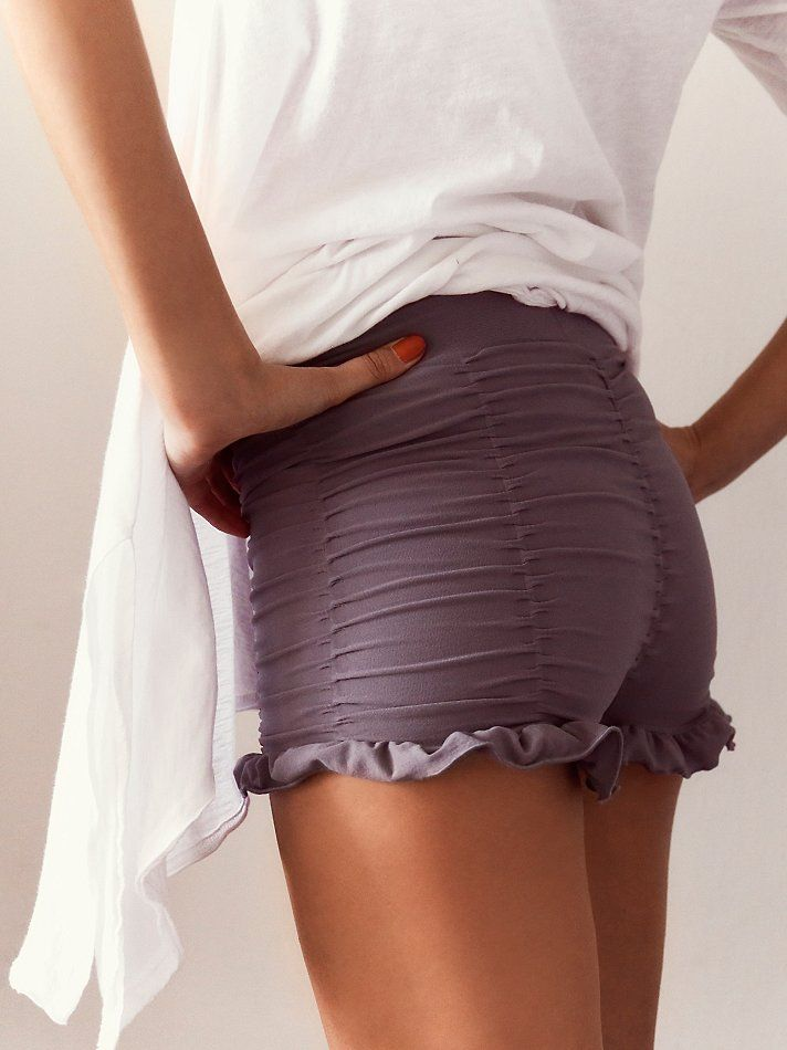 Free People Ruched Seamless Shorts, $38.00 @Hilary Teibel  Skylar Eager