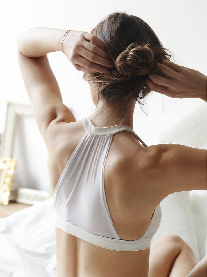 Intimately Mesh Back Halter Bra at Free People Clothing Boutique