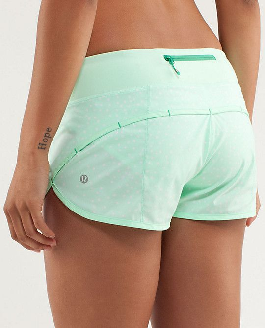RUN:Speed Short from Lululemon. So many cute colors and patterns! Just wish they...