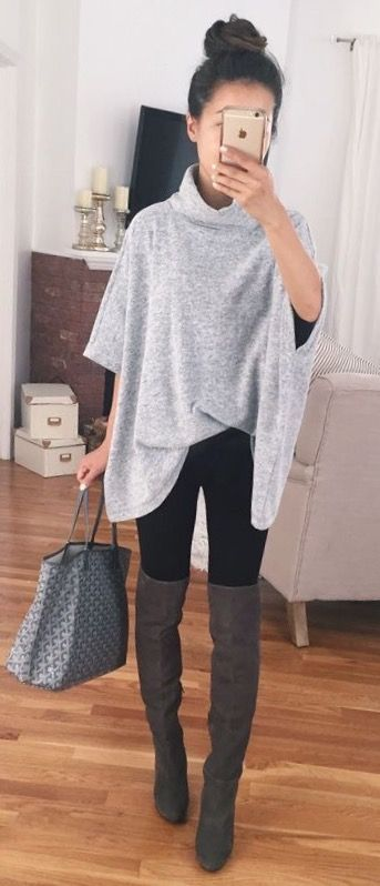awesome Stitch fix stylist: I love this whole look. The big sweater with the leg...