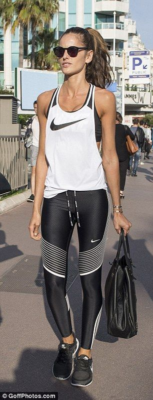 cool Izabel Goulart showcases her enviable legs in floral jumpsuit by www.redfas...