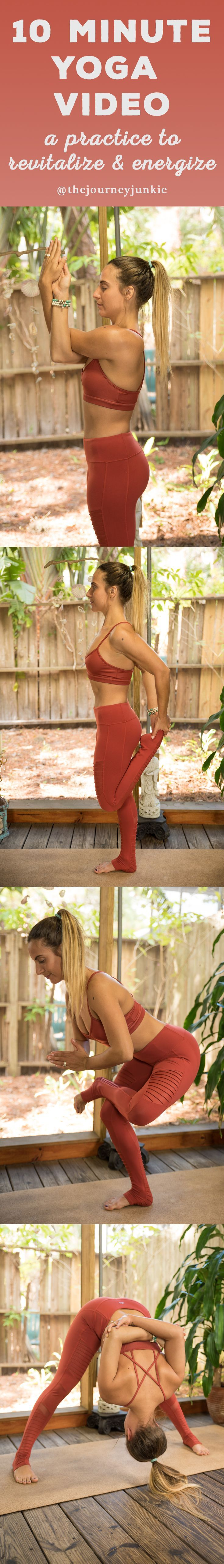 10 Minute Yoga Video to Energize + Revitalize - Pin now, do this flow ASAP!