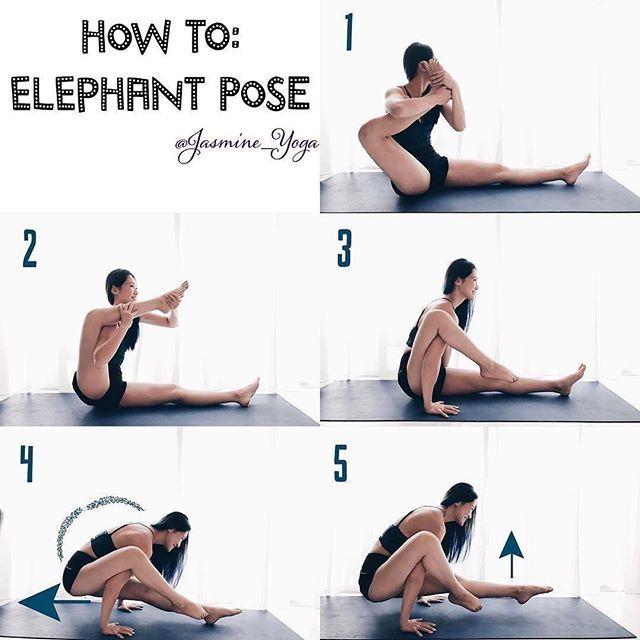 @jasmine_yoga on Elephant Pose ・・・ #JasmineYogaTutorial : #ElephantPose  A...