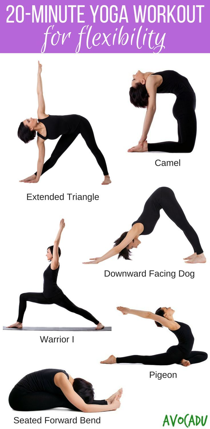 Get flexible fast and lose weight with this yoga workout for beginners! avocadu....