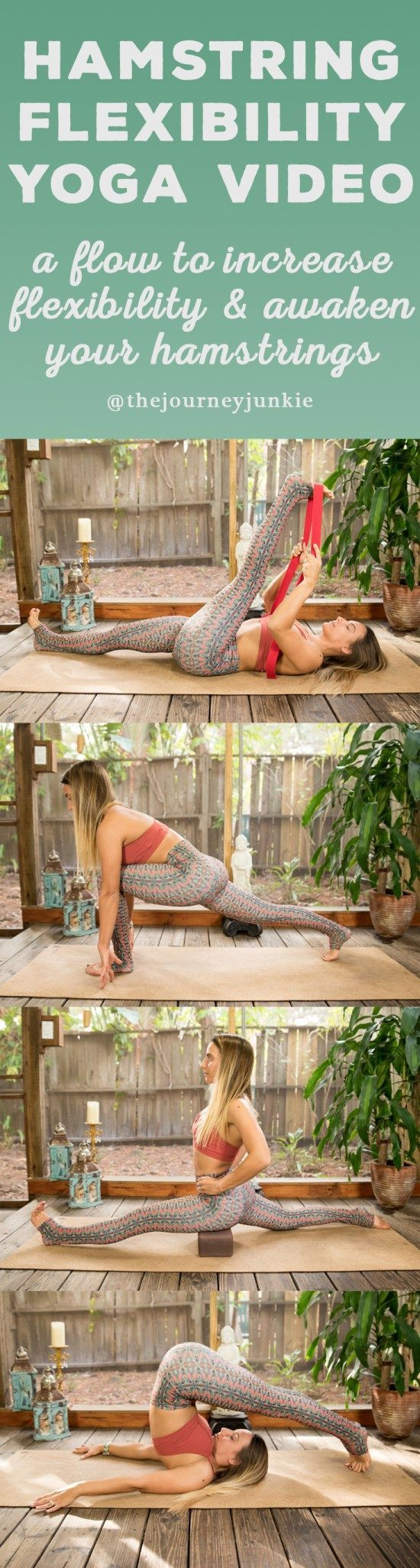 Hamstring Yoga Flow for Flexibility - 30 Minute Video - Pin now, stretch your ha...