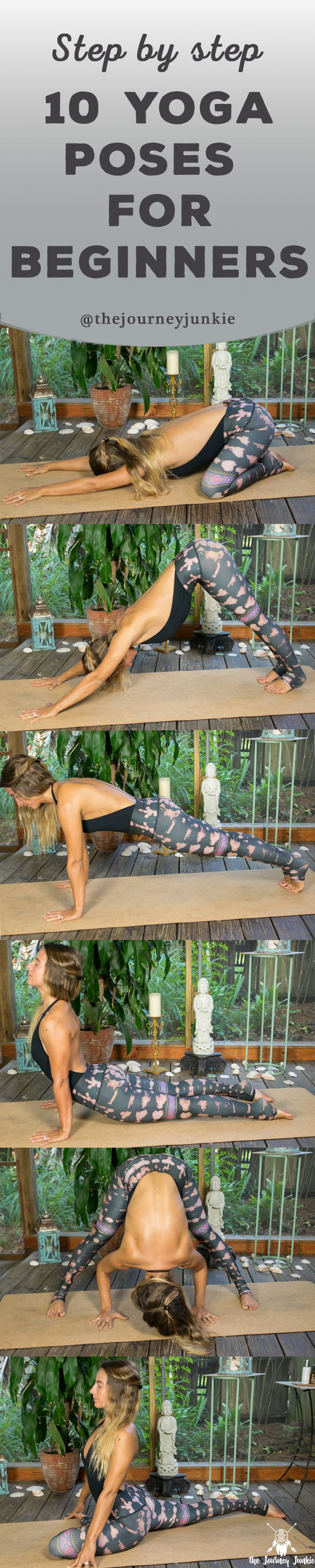 New to yoga?  Learn 10 common yoga poses that will help create and shape your yo...