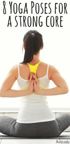 Strengthen your core and tone your abs with these 8 yoga poses for beginners! #y...