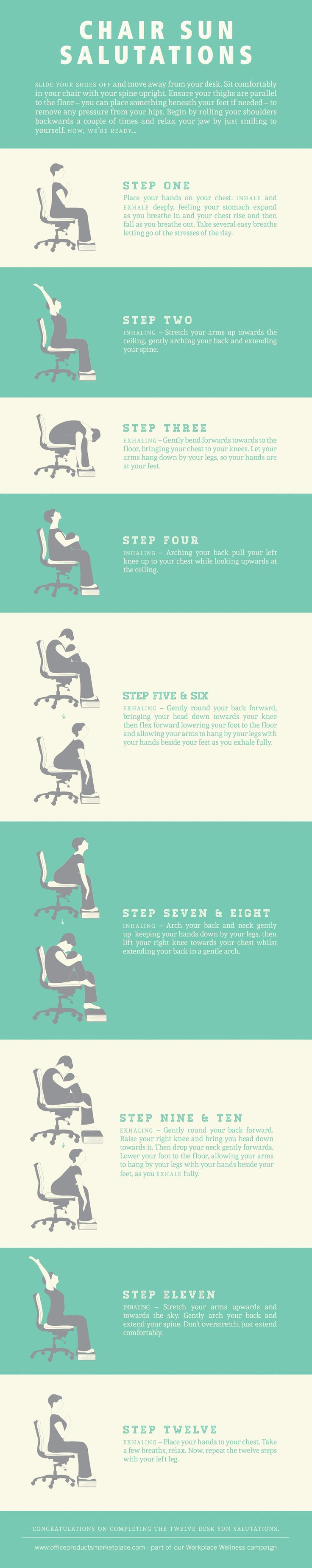 Sun Salutations at Your Desk Infographic