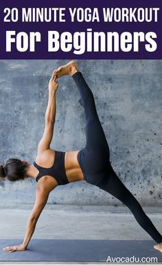 This yoga workout for beginners includes yoga poses for weight loss, flexibility...