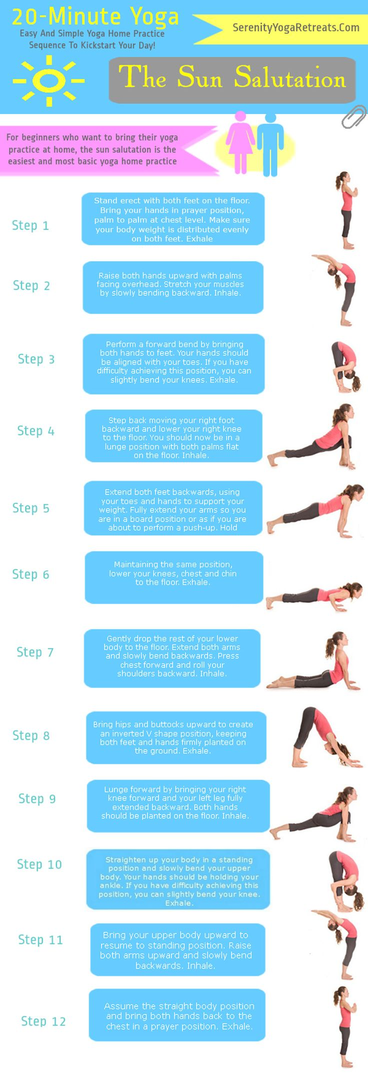 Yoga For Beginners -- The Sun Salutation    Let's Kickstart our day with an ...
