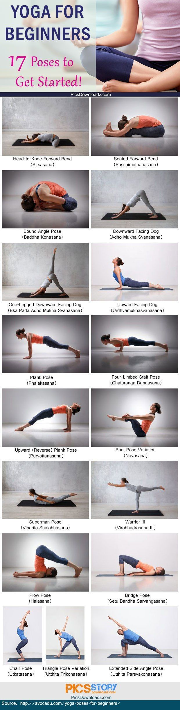 Yoga for beginners: 17 yoga poses to get started. Quickstart yoga poses for a he...