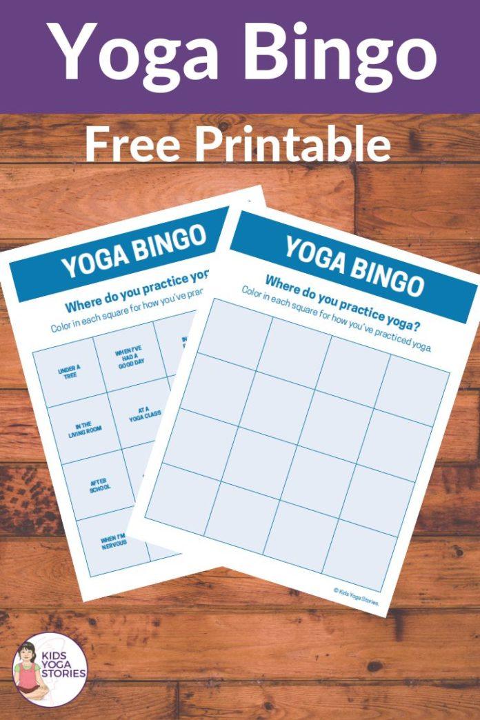Yoga Poses : Bingo Yoga - Free Printable! I'm excited to
