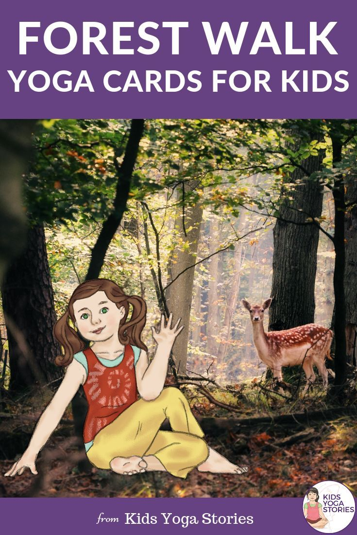 **Forest Walk Yoga Cards for Kids**    Learn about woodland wildlife through mov...