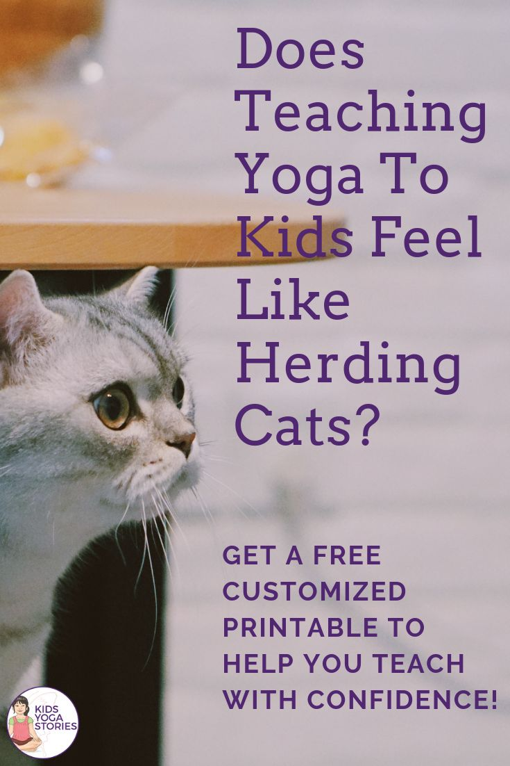 **Free Customized Printable**  Do you struggle to teach yoga to kids or have a d...