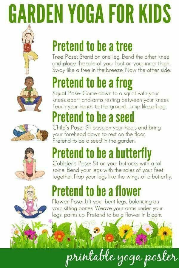 Garden yoga for kids #yogaforkids