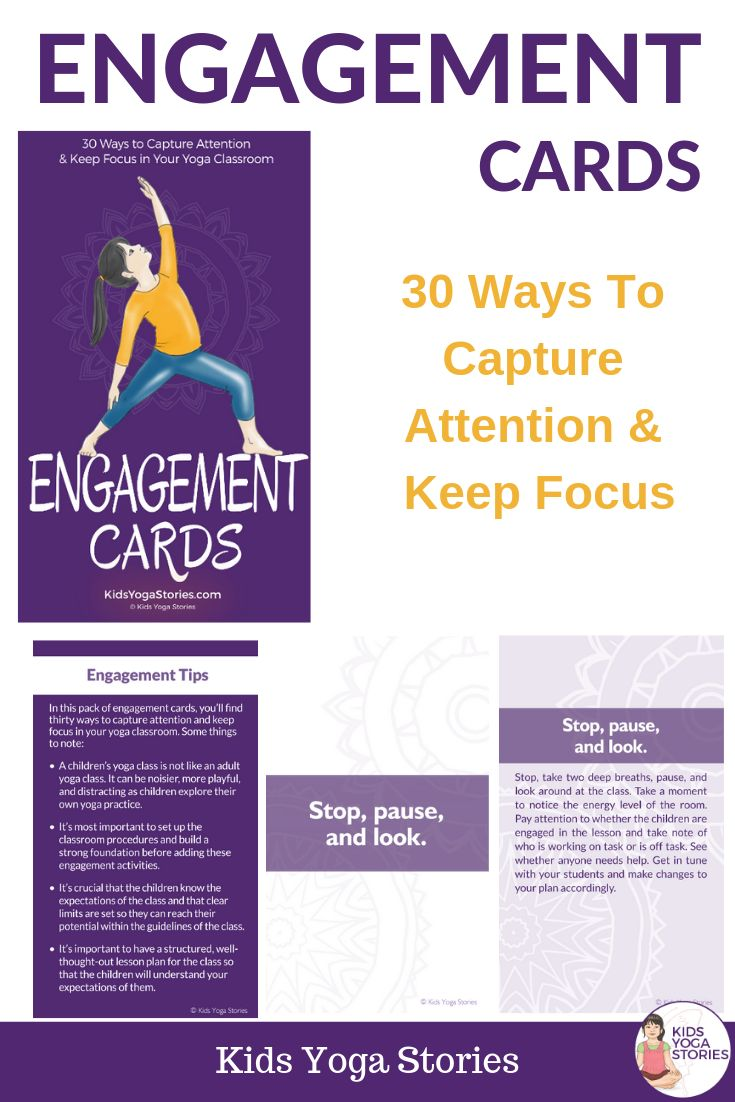 Help Your Kids Focus and Stay Engaged in Your Yoga Classes.We know that children...
