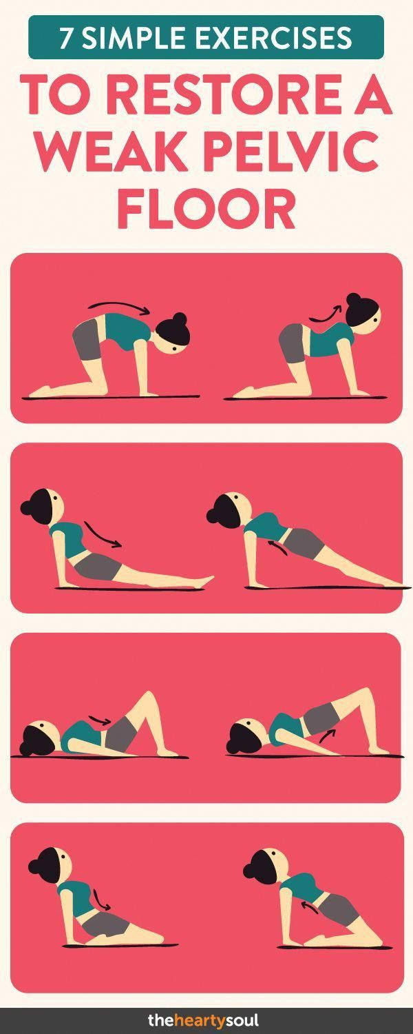 Strengthen your pelvic floor muscles with these simple exercises! #womensworkout...