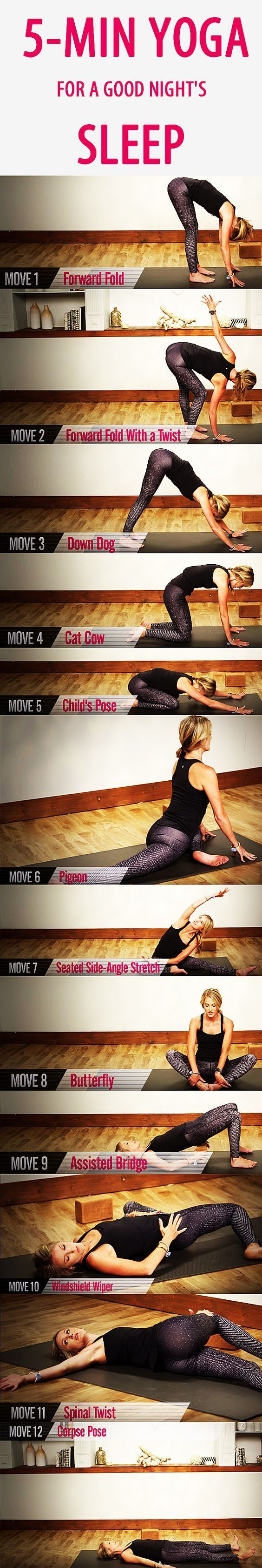 5-minute YOGA routine for a GOOD NIGHT'S SLEEP. Sometimes you have to actively u...